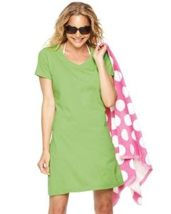 LAT 3522 - Ladies Fine Jersey V-Neck Coverup