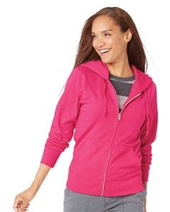LAT 3763 - Ladies French Terry Full-Zip Hooded Sweatshirt