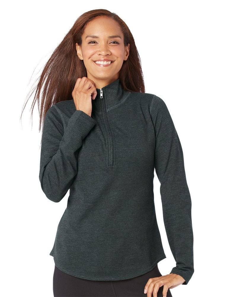 LAT 3764 - Ladies' French Terry Quarter-Zip Pullover