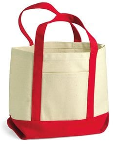 Liberty Bags 8867 - Seaside Small Cotton Canvas Boater Tote
