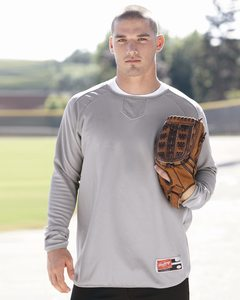 Rawlings 9705 - Long Sleeve Flatback Mesh Fleece Pullover