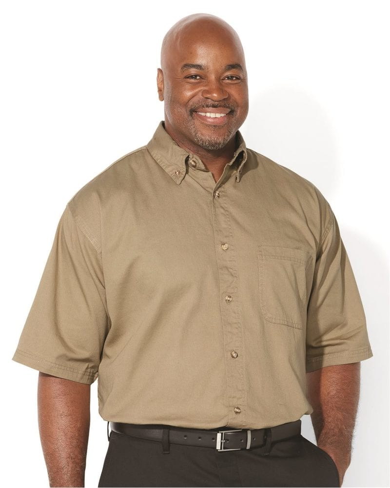 Sierra Pacific 6201 - Short Sleeve Cotton Twill Shirt Tall Sizes