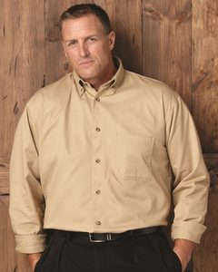Sierra Pacific 7201 - Long Sleeve Cotton Twill Shirt Tall Sizes
