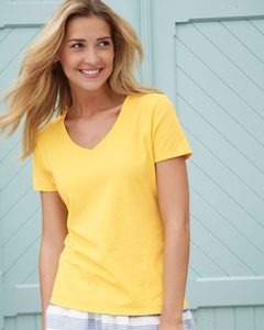 Hanes S04V - Hanes® Ladies Nano-T® Cotton V-Neck T-Shirt