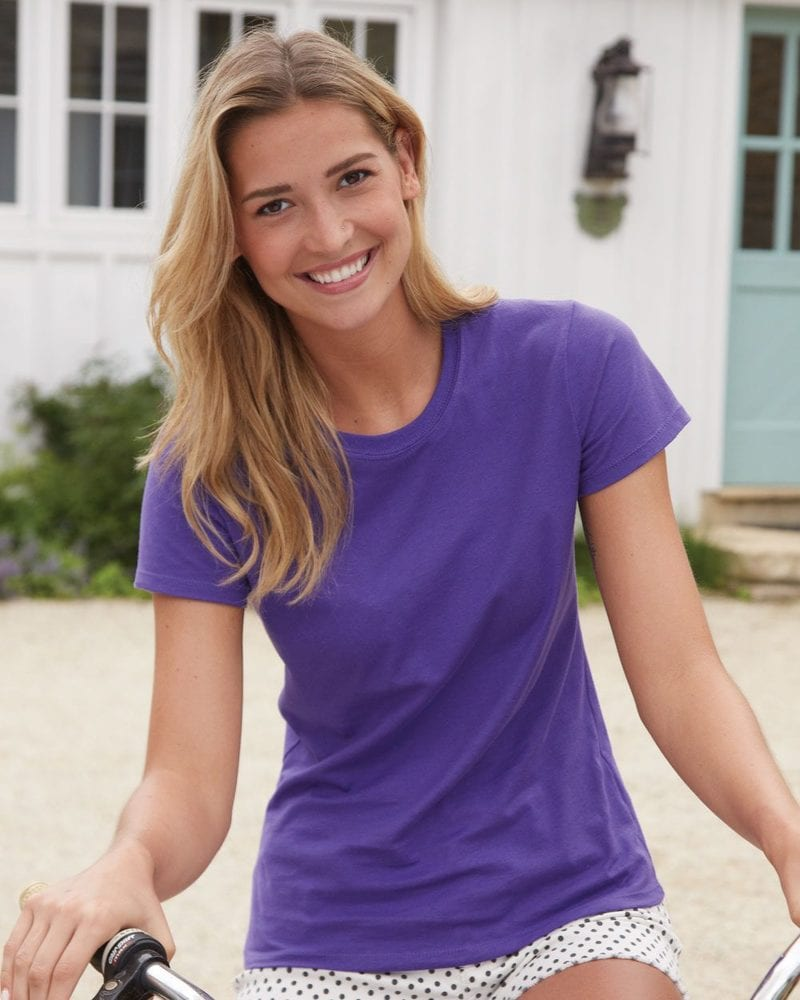 0f50f76c Hanes SL04 - Hanes® Ladies' Nano-T® Cotton T-Shirt | Needen USA