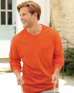 Hanes 5596 - Tagless® Long Sleeve T-Shirt with a Pocket