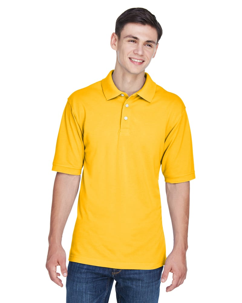Harriton M265 - Men's 5.6 oz. Easy Blend Polo