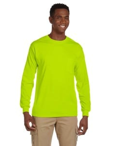 Gildan G241 - Ultra Cotton® 6 oz. Long-Sleeve Pocket T-Shirt