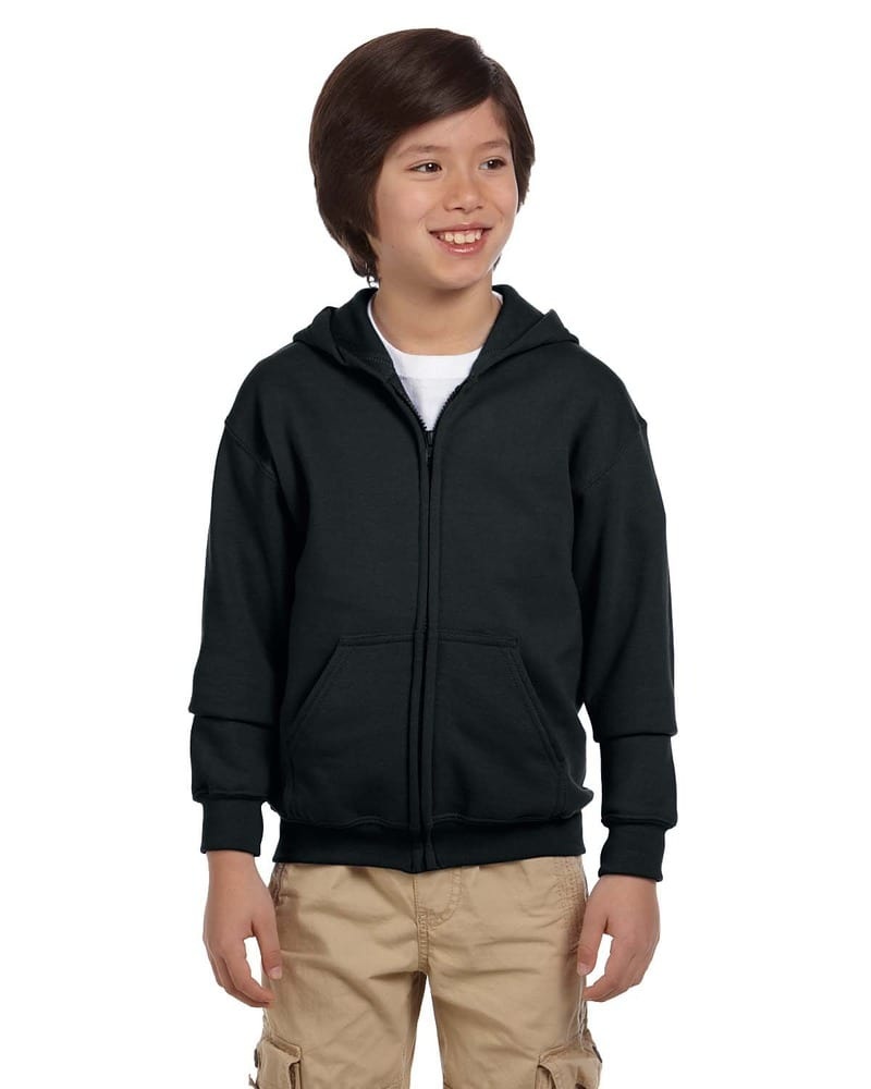 Gildan G186B - Wholesale Youth 8 oz., 50/50 Full-Zip Hoodie