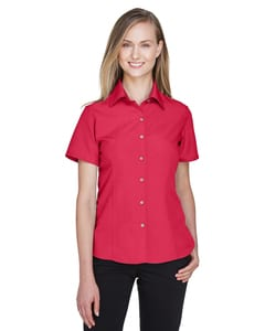 Harriton M560W - Ladies Barbados Textured Camp Shirt