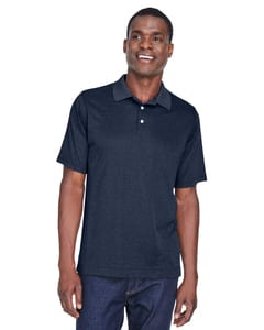 Devon & Jones DG210 - Pima-Tech™ Mens Jet Pique Heather Polo