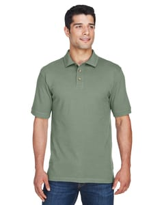 Harriton M200 - Mens 6 oz. Ringspun Cotton Piqué Short-Sleeve Polo