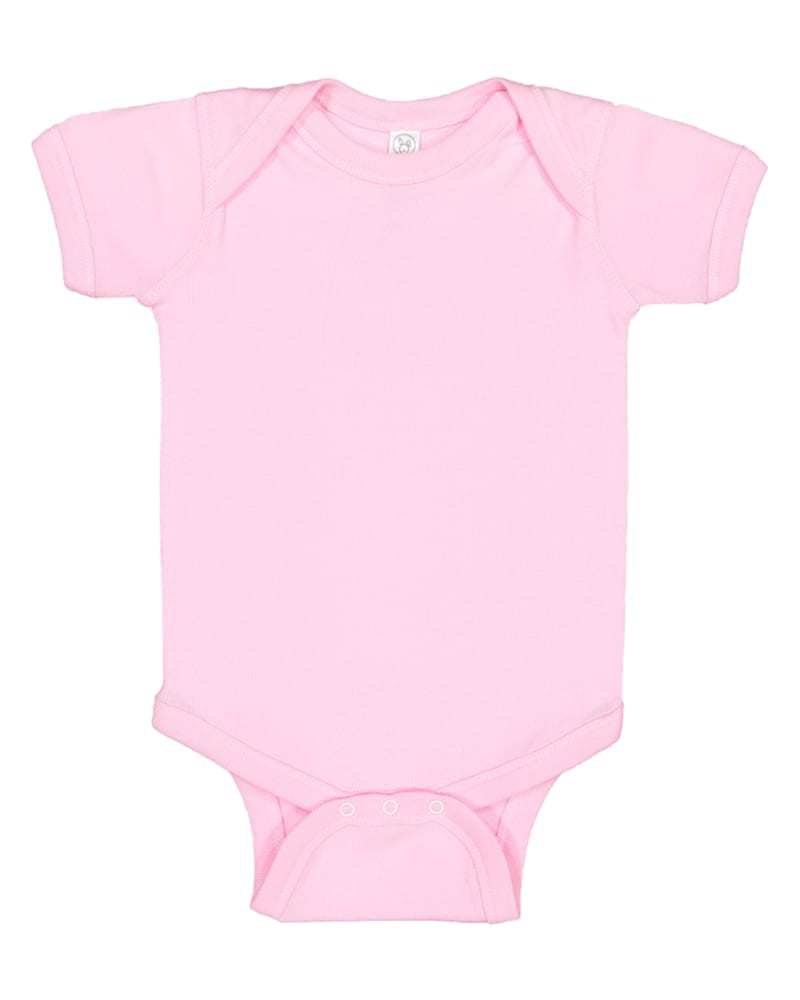 Rabbit Skins 4400 - Infant 5 oz. Baby Rib Lap Shoulder Bodysuit