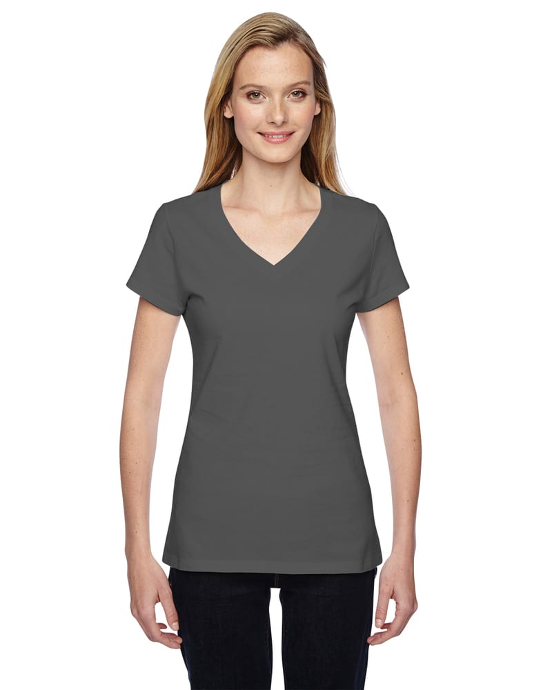 Fruit of the Loom SFJVR - Ladies 4.7 oz. 100% Sofspun Cotton Jersey Junior V-Neck T-Shirt