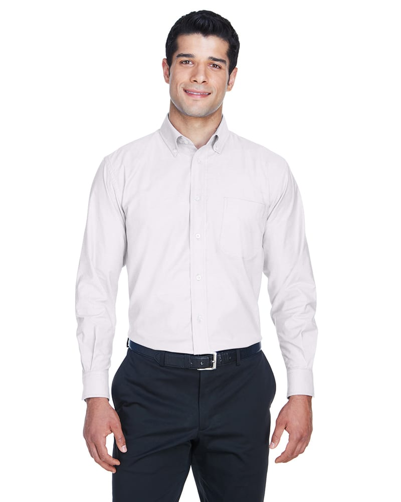 Harriton M600 - Men's Long-Sleeve Oxford with Stain-Release