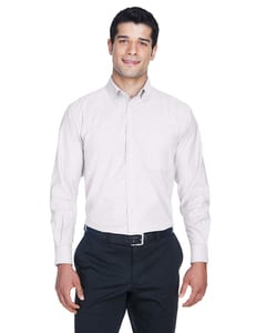 Harriton M600 - Mens Long-Sleeve Oxford with Stain-Release