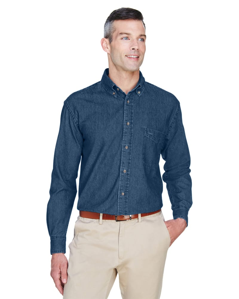 Harriton M550 - Men's 6.5 oz. Long-Sleeve Denim Shirt