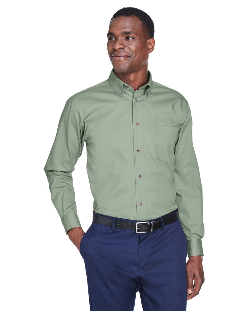 c926cfa86e62c Harriton M500 - Men s Easy Blend™ Long-Sleeve Twill Shirt with Stain-Release