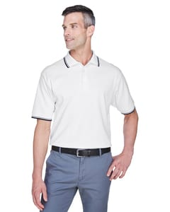 Devon & Jones D140 - Mens Tipped Perfect Pima Interlock Polo