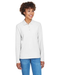Devon & Jones D110W - Ladies Pima Piqué Long-Sleeve Polo