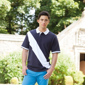 Front Row FR212 - Front Row FR212 - DIAGONAL STRIPE HOUSE POLO