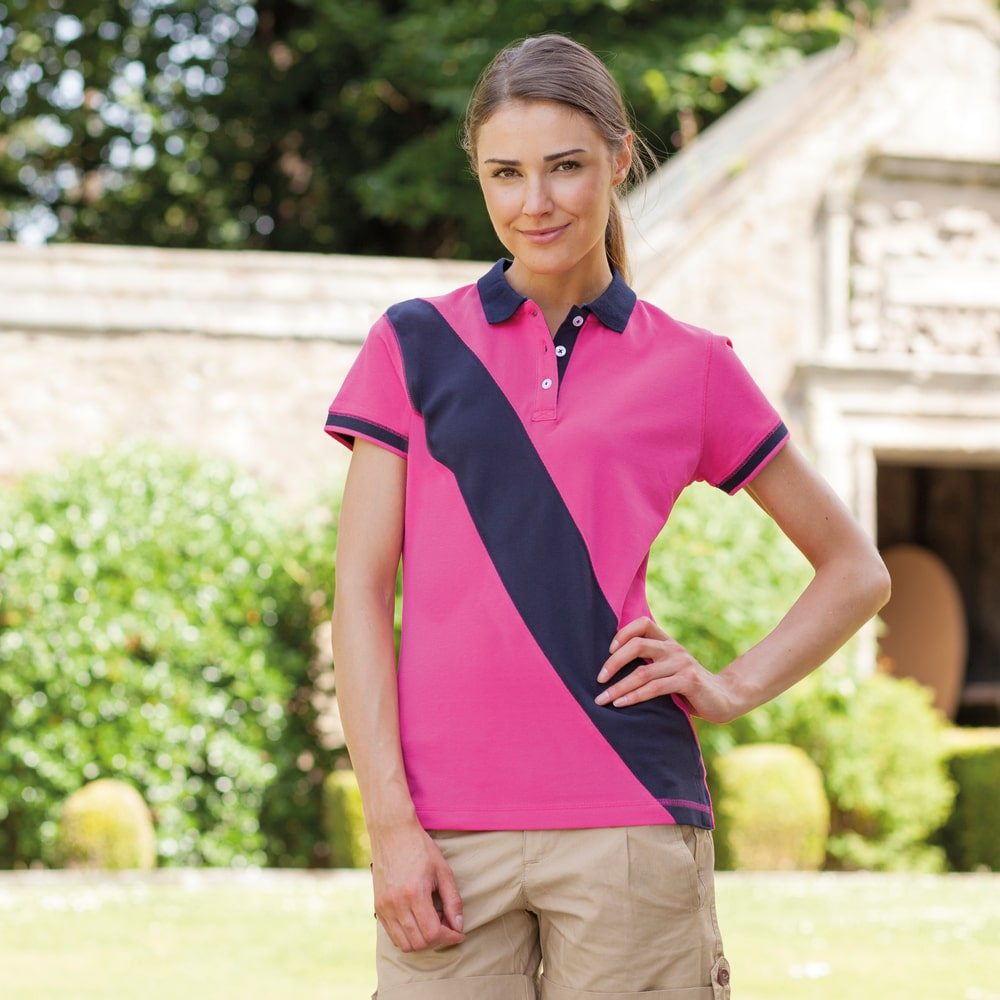 Front Row FR213 - Front Row FR213 - LADIES DIAGONAL STRIPE HOUSE POLO