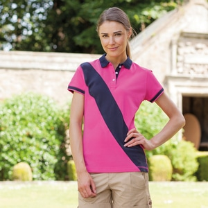 Front Row FR213 - DIAGONAL STRIPE HOUSE POLO POLO BANDE DIAGONALE FEMME