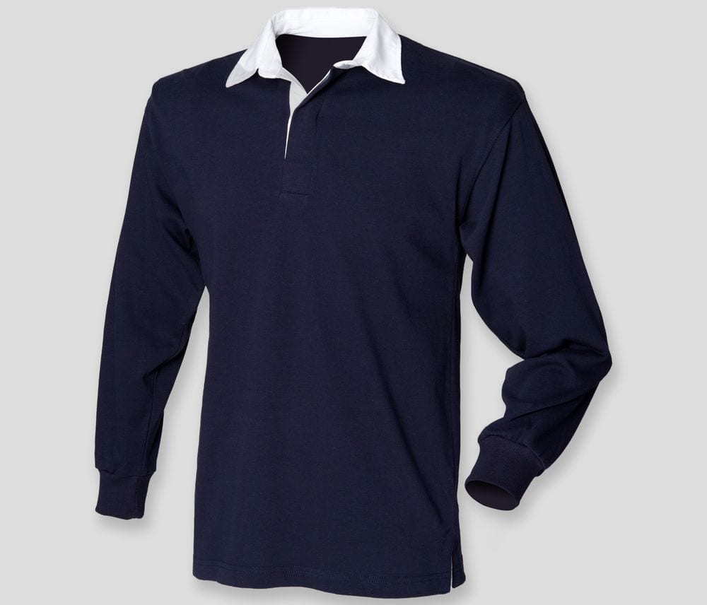 Front Row FR109 - Kids long sleeve plain rugby shirt