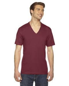 American Apparel 2456 - Unisex Fine Jersey Short-Sleeve V-Neck