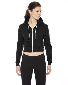 American Apparel F397 - Ladies Cropped Flex Fleece Zip Hoodie