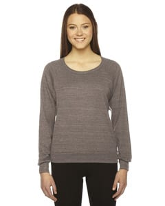 American Apparel BR394 - Ladies Triblend Lightweight Raglan Pullover