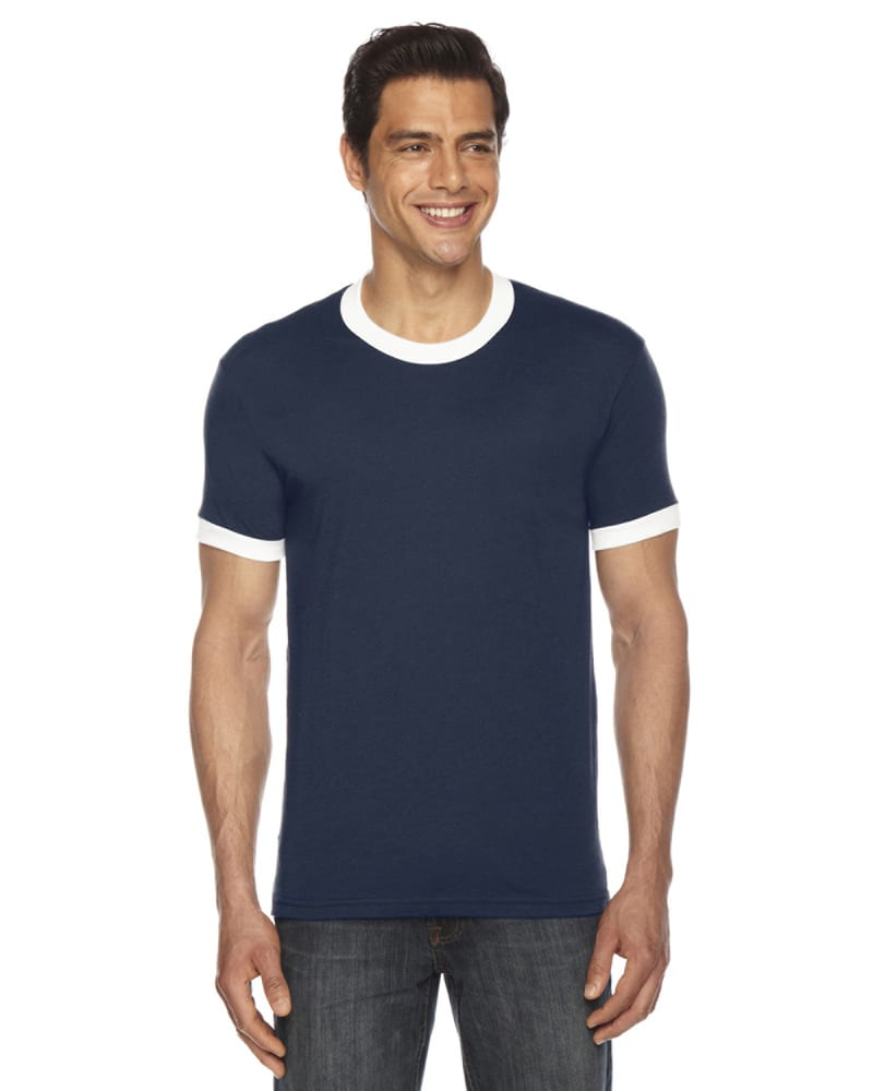 American Apparel BB410 - Unisex Poly-Cotton Short-Sleeve Ringer T-Shirt