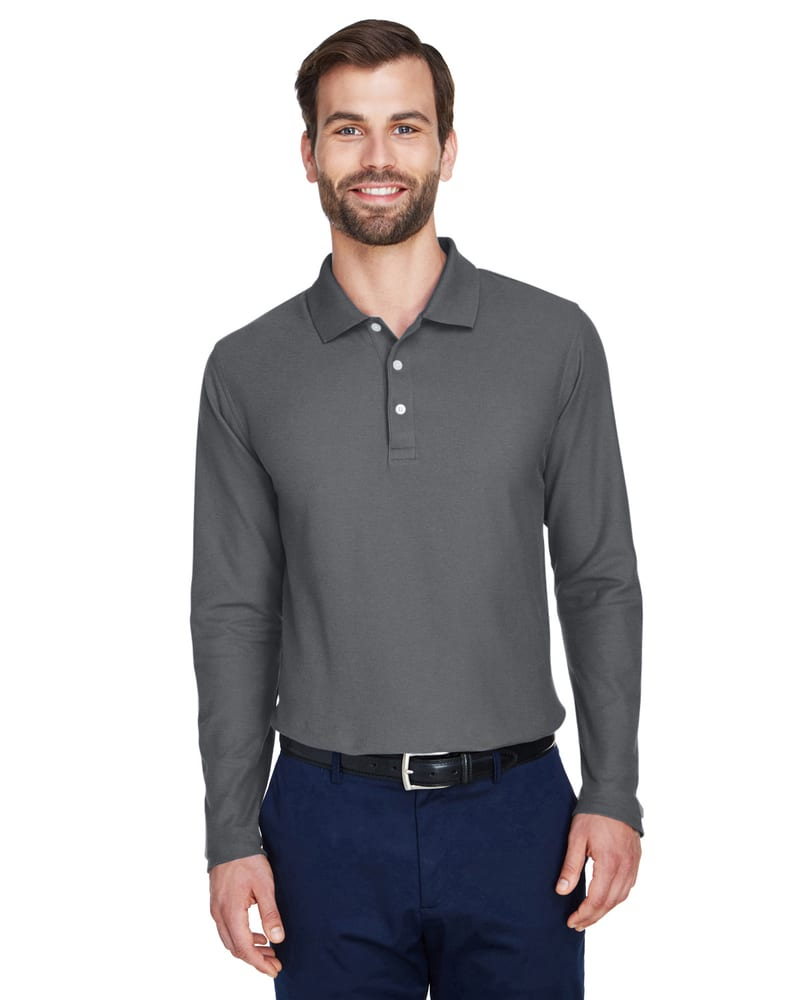 Devon & Jones DG170 - Men's DRYTEC20™ Performance Long-Sleeve Polo