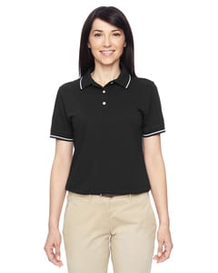 Harriton M270W - Ladies 5.6 oz. Tipped Easy Blend  Polo