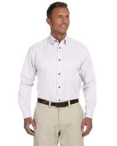 Harriton M500T - Mens Tall Easy Blend Long-Sleeve Twill