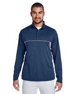 Team 365 TT26 - Mens Excel Mélange Interlock Performance Quarter-Zip Top