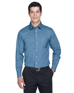 Devon & Jones DG530 - Mens Crown Collection™ Solid Stretch Twill