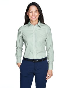 Devon & Jones D645W - Ladies Crown Collection™ Banker Stripe