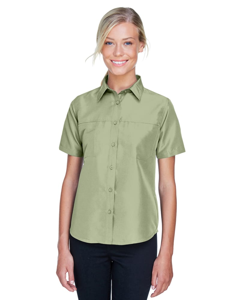 Harriton M580W - Ladies Key West Short-Sleeve Performance Staff Shirt