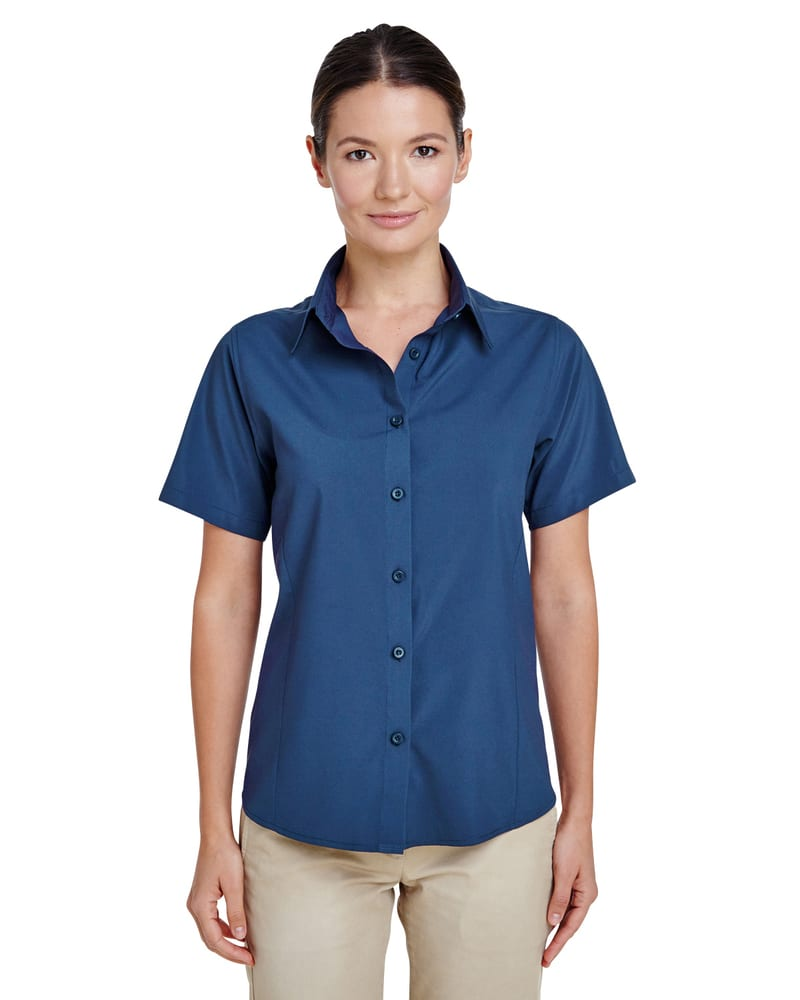 Harriton M610SW - Ladies Paradise Short-Sleeve Performance Shirt