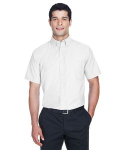 Harriton M600S - Mens Short-Sleeve Oxford with Stain-Release