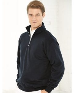 Bayside 920 - USA-Made Quarter-Zip Pullover Sweatshirt