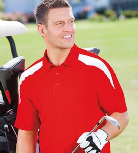 Paragon 105 - Mens Contrast Insert Performance Polo