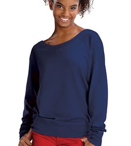 LAT 3752 - Juniors Lightweight French Terry Slouchy Pullover