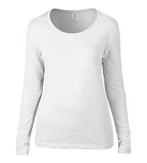 Anvil 399 - Women's Featherweight Long Sleeve Scoop Tee