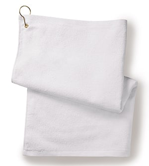 Anvil T68G - Towels Plus By Deluxe Hemmed Hand Towel With Corner Grommet And Hook