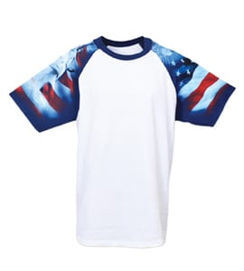 Everyday Life 100-04 - Patriotic Theme Print Tee