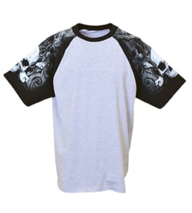 Everyday Life 100-47 - Skull & Crossbones Theme Print Tee