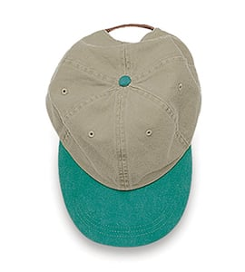 Adams LP102 - Optimum Khaki Crown Pigment Dyed Twill Cap