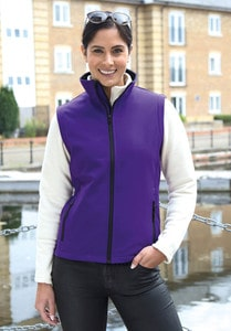 Result R232F - CORE LADIES PRINTABLE SOFTSHELL BODYWARMER
